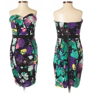 Plenty by Tracy Reese Strapless Floral Dress SZ 4